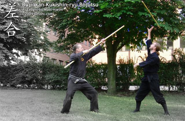 Bojutsu - Keiko Sabaki kata - 03 - Sashi-ai(E)